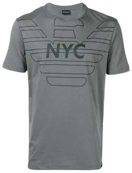 "Emporio Armani T Shirt Mit ""Nyc"" Print Home Herren Emporio Armani Kleidung T Shirts by Emporio Armani"