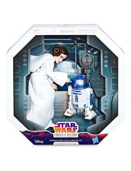 Princess Leia Action Figure   Star Wars: Forces Of Destiny   Platinum Edition   Hasbro by Disney