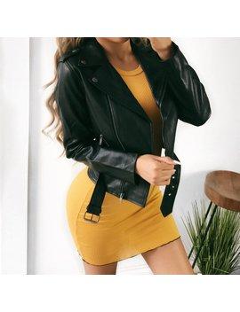 Adalyn Black Leather Jacket by Ootdfash