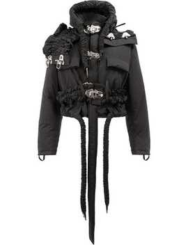 Craig Greenhooded Ruched Strap Cropped Jackethome Men Craig Green Clothing Hooded Jackets by Craig Green