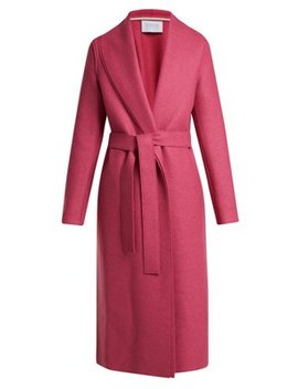 Belted Pressed Wool Coat by Harris Wharf London