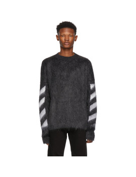 Grey Mohair Gradient Sweater by Off White