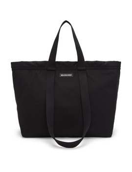 Black Casual Shopper Tote by Balenciaga