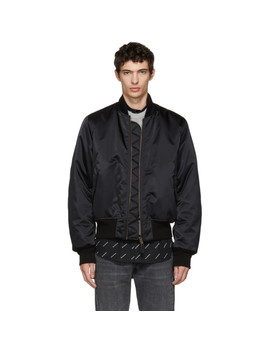 Black Campaign Bomber Jacket by Balenciaga