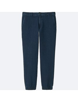 Men Denim Jogger Pants by Uniqlo