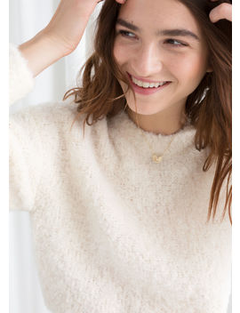 Textured Wool Blend Sweater by & Other Stories