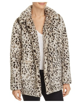 Lynx Faux Fur Coat by La Vie Rebecca Taylor