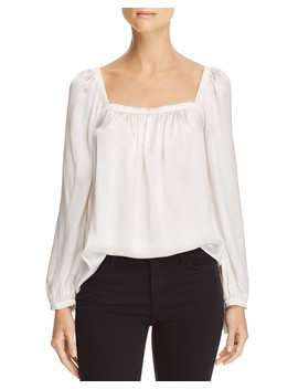 Silk Charmeuse Square Neck Top by Rebecca Taylor