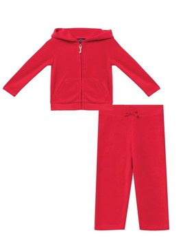 Velour Encrusted Heart Track Set For Baby by Juicy Couture