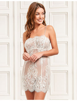 Gigi Galloon Bridal Lace Chemise by Figleaves