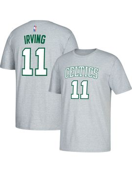 Adidas Men's Boston Celtics Kyrie Irving #11 Grey T Shirt by Adidas