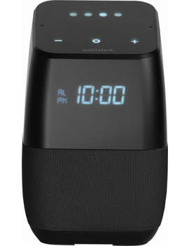 Voice™ Smart Bluetooth Speaker And Alarm Clock With Google Assistant   Black by Insignia™