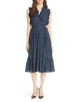 Wild Roses Ruffled Wrap Dress by Kate Spade New York