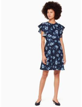 Prairie Rose Crepe Dress by Kate Spade