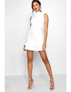 Sleeveless Ruffle Hem Bodycon Dress by Boohoo