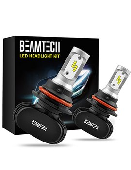 Beamtech 9007 Led Headlight Bulb, 50 W 6500 K 8000 Lumens Extremely Brigh Csp Chips Conversion Kit by Beamtech