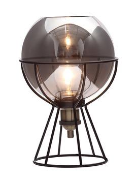 Callisto Smoked Glass Ball Table Lamp (H30cm X W21cm) by Matalan