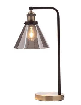 Callisto Smoked Glass Task Table Lamp (H48cm X W19cm) by Matalan