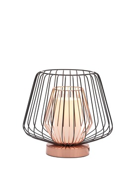 Lowa Caged Table Lamp (H23cm X W26cm) by Matalan