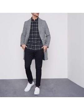 Jack & Jones Premium Grey Check Shirt by River Island