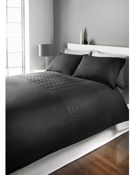 Quilted Geometric Duvet Cover by Matalan
