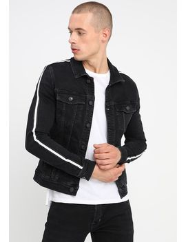 Taped Muscle Fit   Jeansjacke by River Island