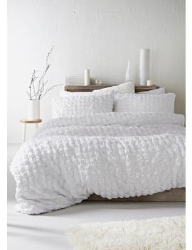 100 Percents  Cotton Seersucker Duvet Cover by Matalan