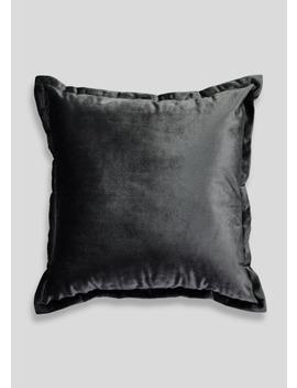 Velvet Oxford Edge Cushion (40cm X 40cm) by Matalan