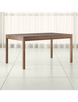 Parsons Walnut Top/ Elm Base Dining Tables by Crate&Barrel