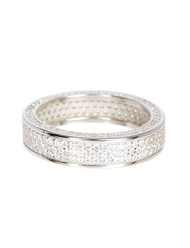 Sterling Silver 3 Row Pave Cz Pave Eternity Band by Best Silver Inc.