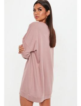Pink Oversized Plain Sweater Dress by Missguided