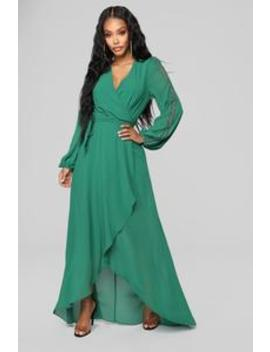 Soul Search High Low Dress   Hunter Green by Fashion Nova