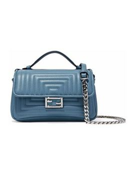 Baguette Quilted Leather Shoulder Bag by Fendi