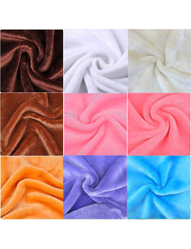Soft Double Sided Flannel Fleece Fabric Plush Fluffy Cuddle Fur Blanket Material by Unbranded