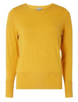 Petite Yellow Cuff  Detail Jumper by Dorothy Perkins