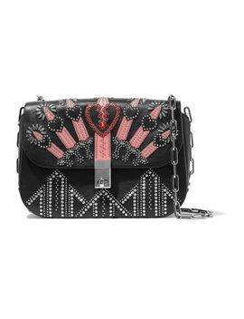 Love Blade Embellished Leather Shoulder Bag by Valentino