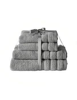 Zero Twist Grey Towel Bale by Dunelm