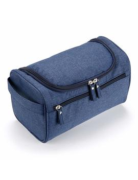 Ignpion Men's Hanging Travel Toiletry Wash Bag Shaving Grooming Accessory (Denim Blue) by Amazon
