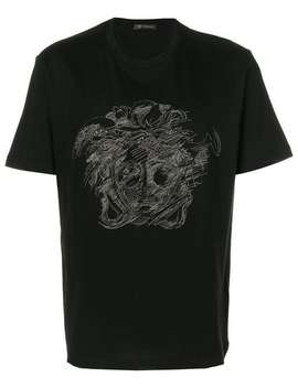 Versace T Shirt Mit Medusa Home Herren Versace Kleidung T Shirts Sneakers Mit 'greca' Motivstraight Leg Jeans Hand Painted Jp Collage Bomber T Shirt Mit Medusa by Versace