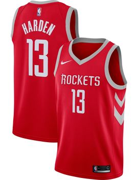 Nike Men's Houston Rockets James Harden #13 Red Dri Fit Swingman Jersey by Nike