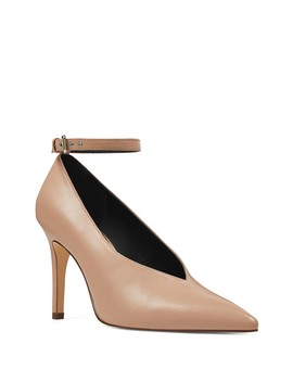 Ziesta Leather Ankle Strap Pump by Nine West