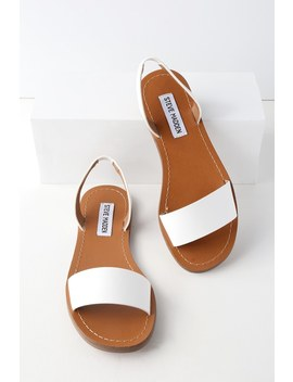 Alina White Flat Sandals by Lulu's