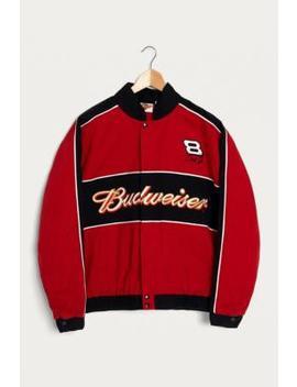 Urban Renewal Vintage One Of A Kind Budweiser Nascar Jacket by Urban Renewal Vintage