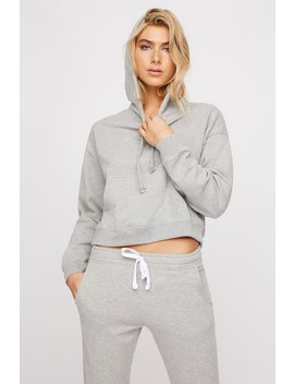 Cropped Fleece Popover Drawstring Hoodie by Urban Planet