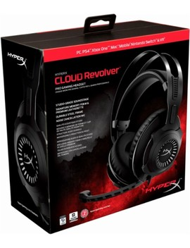 Cloud Revolver Wired Stereo Gaming Headset For Pc, Play Station 4, Xbox One, Nintendo Wii U And Mobile Devices   Gunmetal by Hyper X