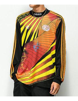 Adidas Na Kel Black & Orange Long Sleeve Jersey by Adidas