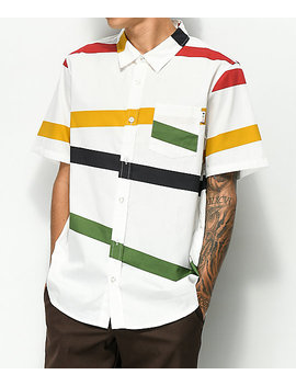 Lrg Montego Multicolored Striped Short Sleeve Button Up Shirt by Lrg