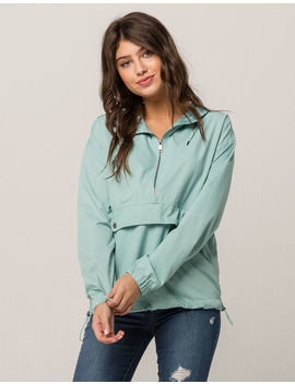 Full Tilt Pullover Seafoam Womens Coach Jacket by Full Tilt