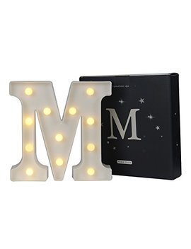 Delicore Led Marquee Letter Lights Alphabet Light Up Sign For Wedding Home Party Bar Decoration M by Delicore