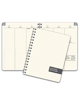 Essential 7x9 Monthly & Weekly 2018 2019 Academic Year Planner   July 2018 Through July 2019   Professional, Simple, Easy To Use Design. Frosted Vinyl Covers For Extra Protection. by Global Printed Products